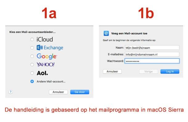 Mac Mail stap 1