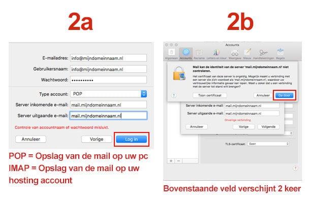 Mac Mail stap 2