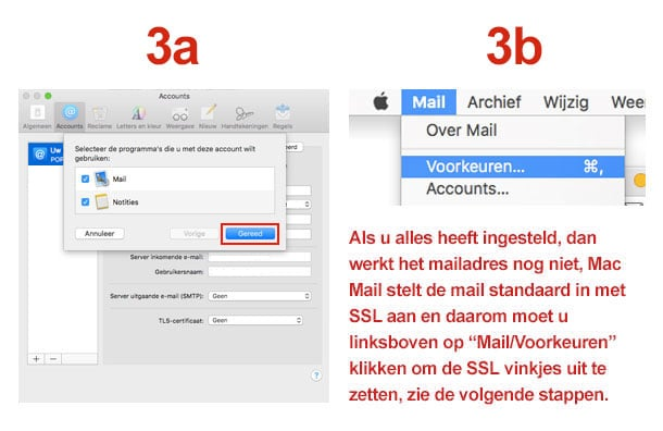 Mac Mail stap 3