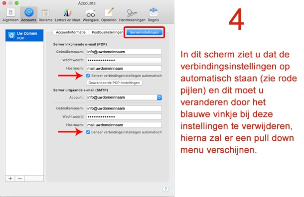 Mac Mail stap 4