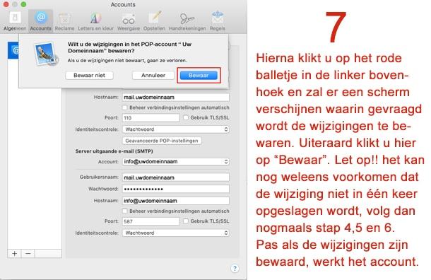 Mac Mail stap 7